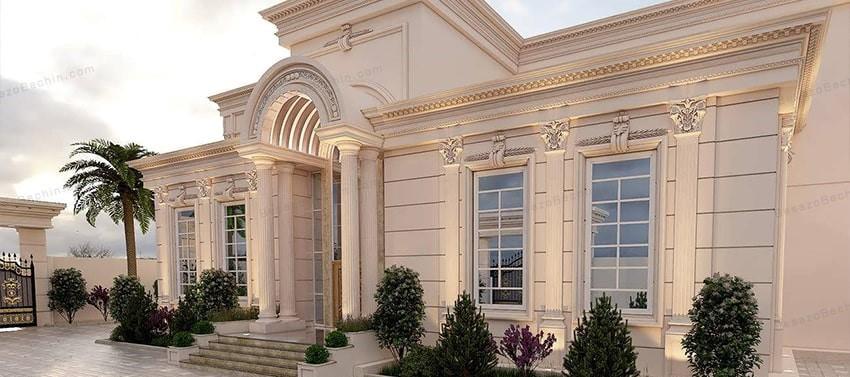 نمای کلاسیک ساختمان مسکونی