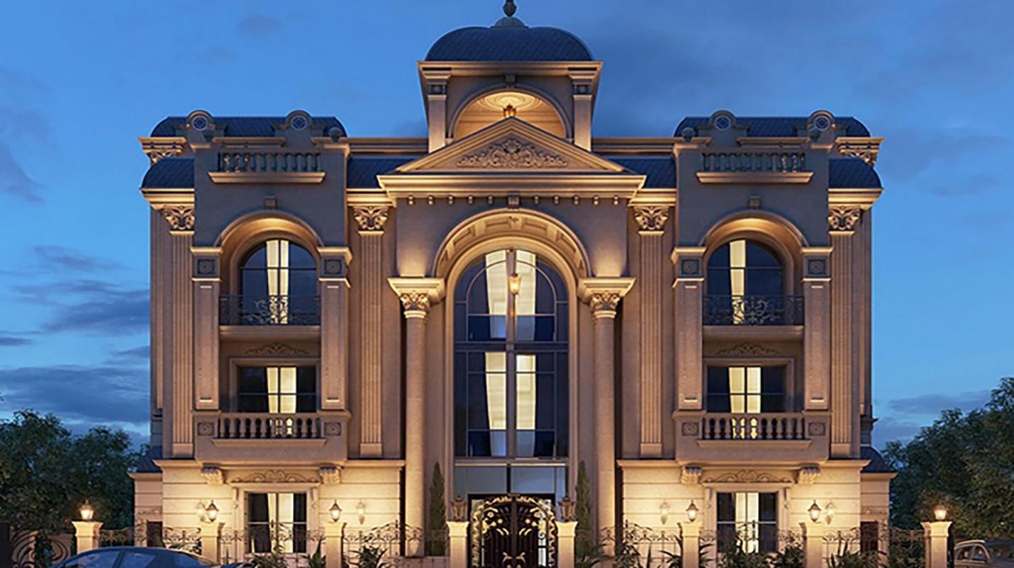 سیمان رنگی در نمای بیرونی ساختمان های رومی و یا کلاسیک: