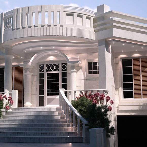 تمام ساختمان های رومی و یا کلاسیک از سه عنصر اصلی تشکیل شده اند که عبارتند از: