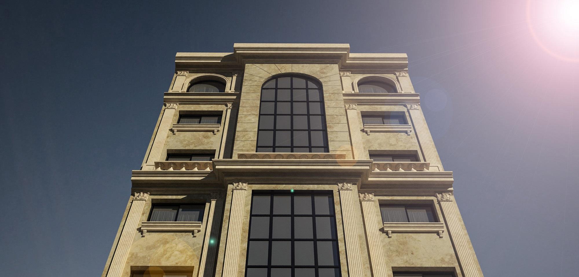 نمای رومی ساختمان یک طبقه