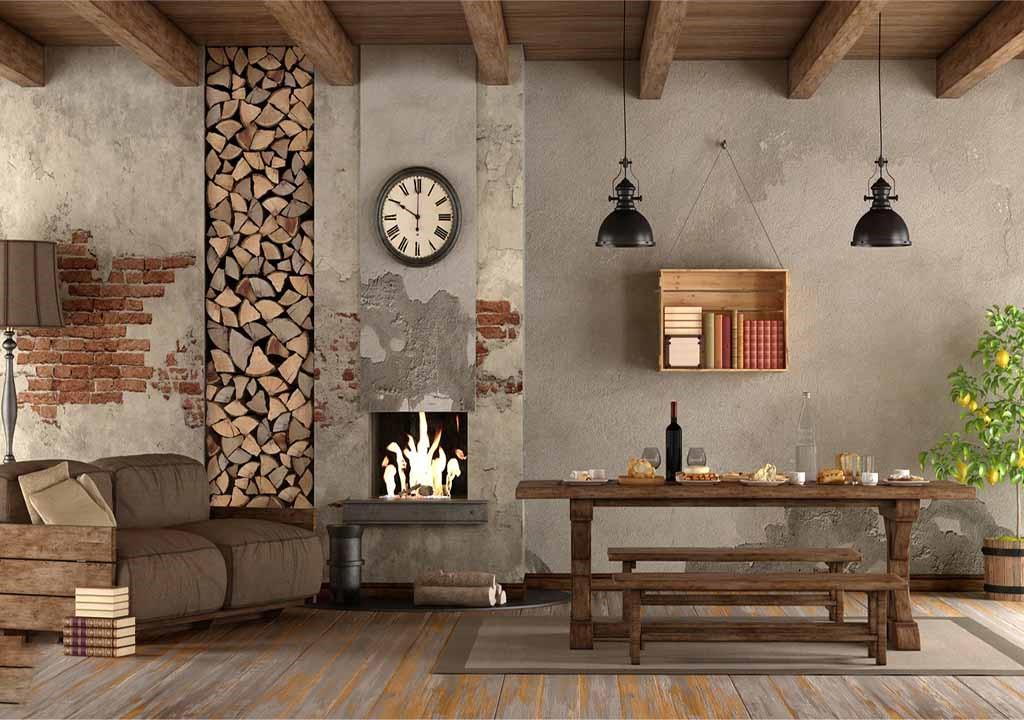 سبک طراحی داخلی روستیک (روستایی):