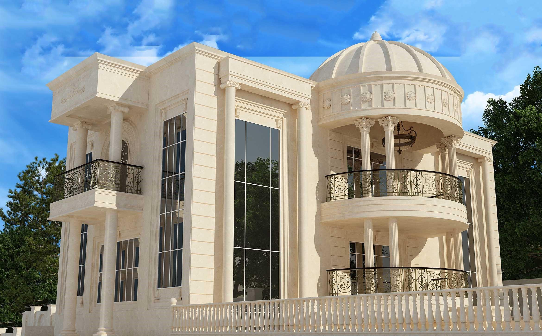 طراحی بیرونی نما با به کار گیری سیمان سفید